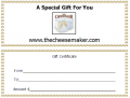 CheeseMaker Gift Certificate