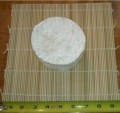 Bamboo draining mats sized 9.5 x 9.5 in.(24cm x 24cm). Excellent for draining or aging your cheeses. Allows air flow under the cheese. Easy to spray wash.